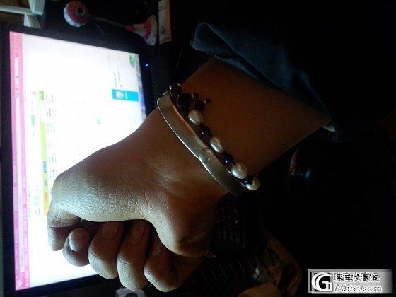 男朋友送的镯子被我掰成了这个形状_手镯银