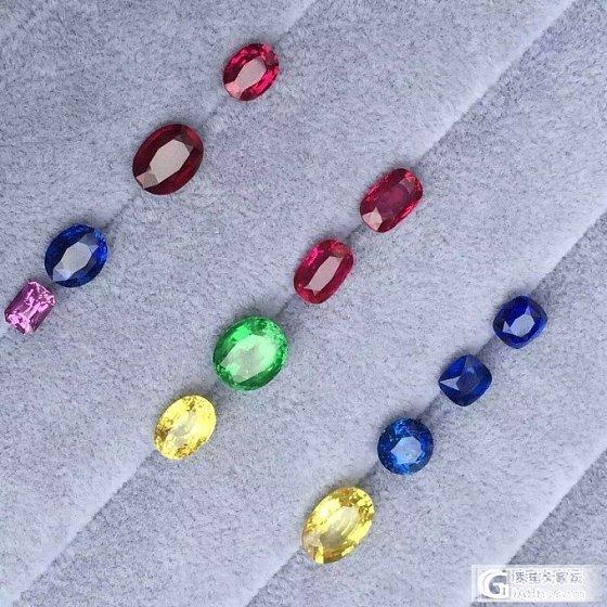 随便摆一起都这么赏心悦目,彩虹色的红蓝宝沙佛莱,色彩控ing~_沙弗莱刻面宝石