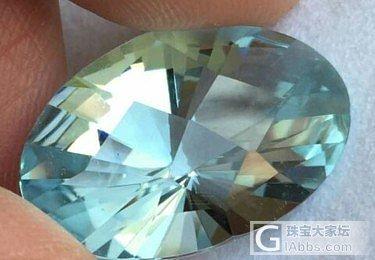 新手求教:这颗海蓝宝大约多少钱能入?多谢_海蓝宝刻面宝石