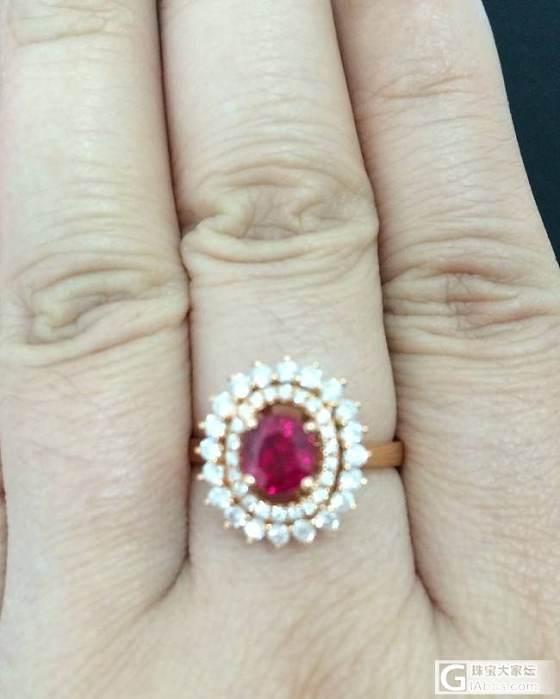 刚入的红宝石戒指_戒指刻面宝石红宝石