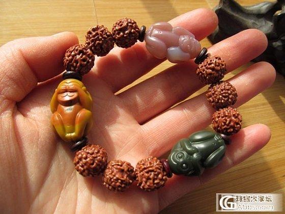 三不猴菩提手串   (既为:勿言、勿听、勿视)_传统玉石