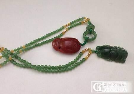 金鱼和苹果绿小脖链,夏天必备_品尚翡翠
