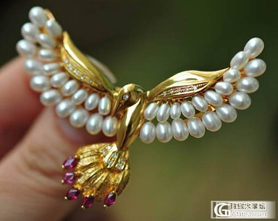 又一枚珍珠胸针,美丽的鸽子~_胸饰珍珠