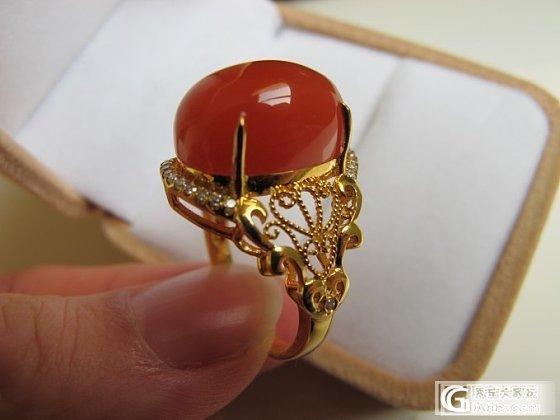 11月底买的南红戒面,刚花丝镶嵌完到手,晒晒_戒指南红