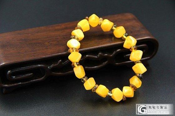 【瑷蜜吧amber】鸡油黄纯天然随形手链,非常漂亮哦_珠宝