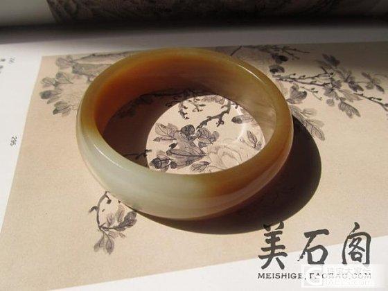 俄料  糖白分明俏色手镯     60口径_传统玉石