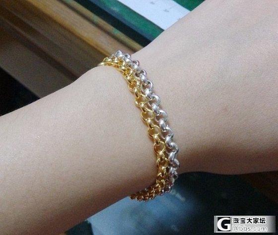 珍珠手链还图,金银珍珠对比一下~~闪必还_银手链福利社金