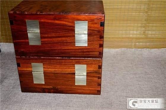 老红木文盒顶盖花梨廮大文盒一对(第2件)_文玩