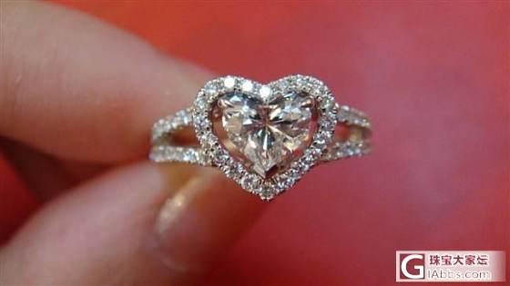 晒结婚戒指,周大福心形钻,50分_钻石