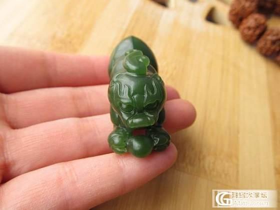 波菜绿老料  俄碧玉貔貅  ---把玩件_传统玉石