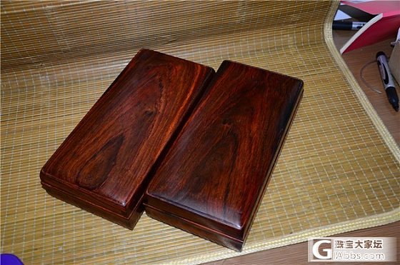 新上独板精工老红木文盒 储物盒_文玩