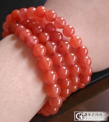 求助:樱桃红珠子变亚光了,怎么办?(上照片了)_珠串南红
