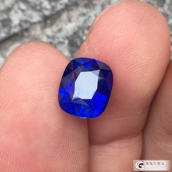 5.255克拉皇家蓝,颜色好正,_蓝宝石刻面宝石