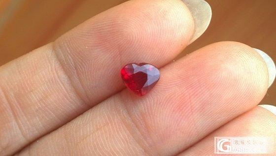 小小白收的小小红,第一次收也不是什么精品,但是还是很开心了_机构证书刻面宝石红宝石