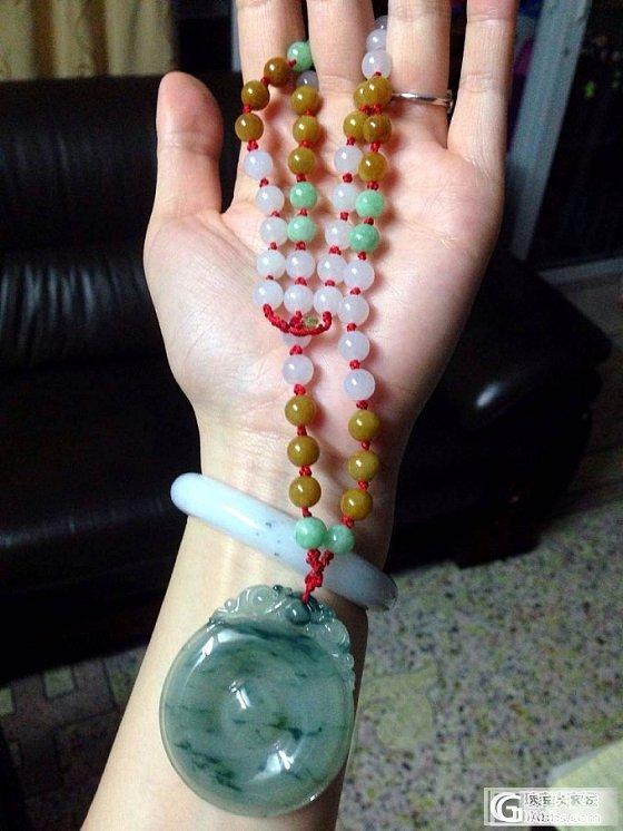 秀秀我的大福贝和种水不错的8mm珠子_珠宝