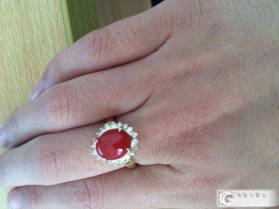 请大家来看看这是一枚阿卡还是沙丁戒指_珊瑚