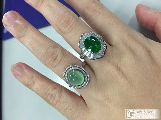 豪镶的莎莎戒指!_沙弗莱刻面宝石