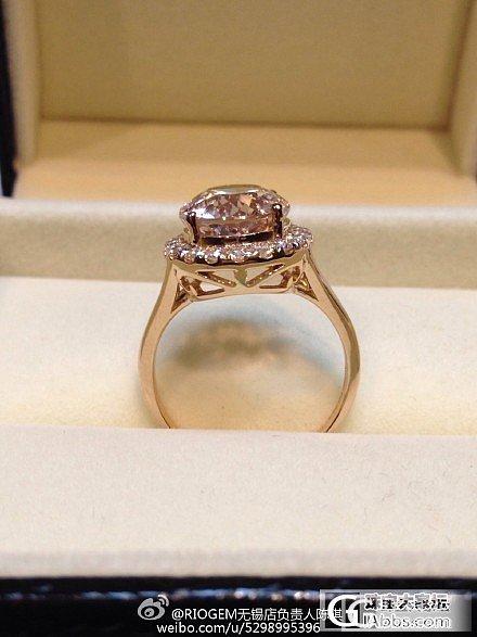 摩根石戒指用3分的辅钻镶嵌的效果就是不一样哦_摩根石刻面宝石
