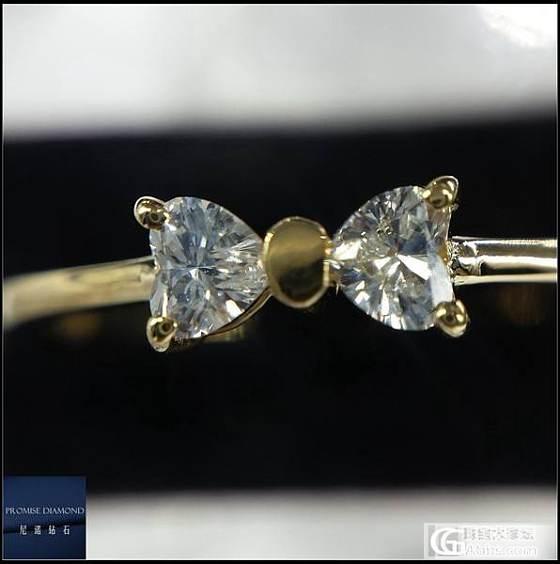 <尼诺钻石>欧版简约钻石戒指 附证书 水滴 爱心_钻石