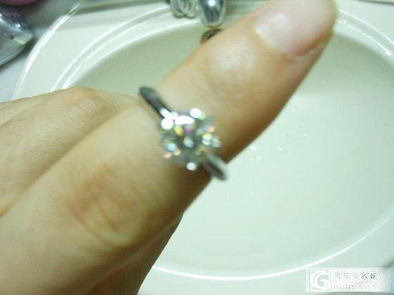 定制的莫桑石戒指终于收到啦~~渣图勿拍。_莫桑石