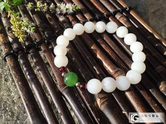 和田玉手链 白玉9.5珠_美玉禅心珠宝