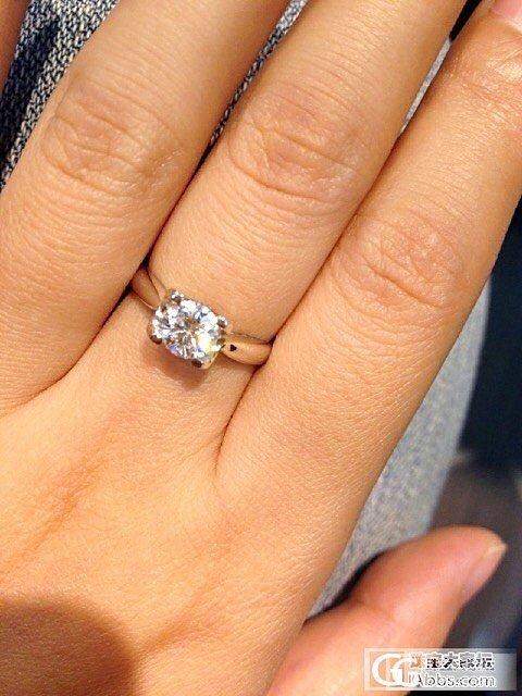 刚拿到我的,虽然不大,但是很漂亮,我也很喜欢哦_钻石