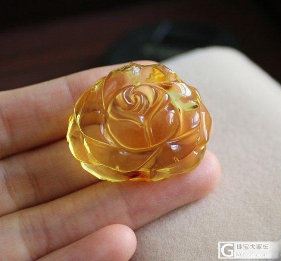 【挽玉阁】琥珀玫瑰花   九折优惠_挽玉阁