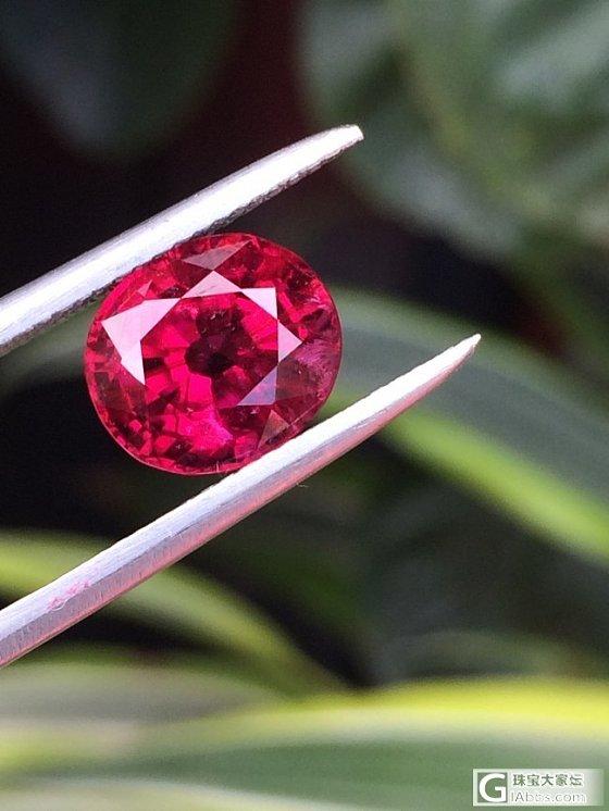 一颗小小的3.76所谓红宝碧玺英文Rubellite 满火欣赏,实物还要漂亮_碧玺珠宝