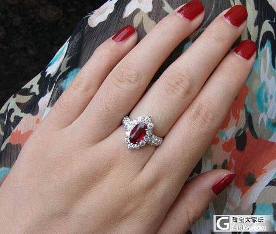 又一个主证莫桑鸽血_戒指红宝石
