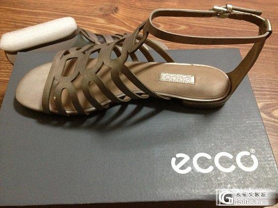 转让全新美国亚马逊海淘的ECCO爱步女式皮凉鞋_品质生活