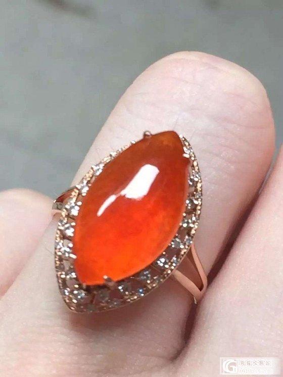 晒晒红翡的马眼翡翠戒指和福瓜喜欢么_翡翠珠宝