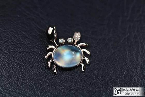 自己定制的一款月光石招财螃蟹,大爱_珠宝