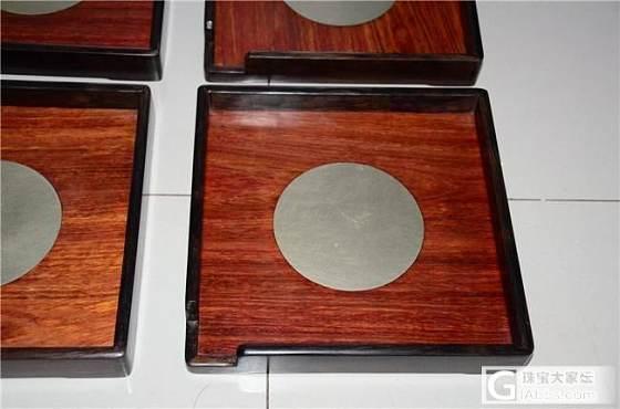紫光檀嵌尼 泊 尔紫檀开茶盘4个打包900包邮(第3件)_文玩