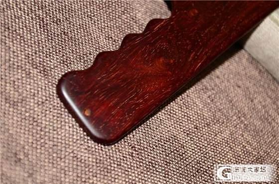 5月9日印度小叶紫檀老料爆金星裁纸刀(第1件)_文玩