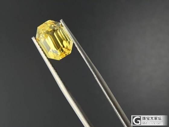 初次发帖:收了一颗黄色蓝宝石,请大家不吝赐教_刻面宝石蓝宝石