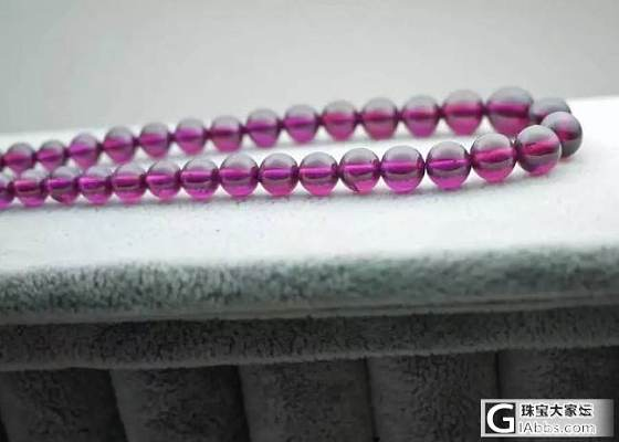 一条很紫很透的紫水晶塔链_珠串紫水晶