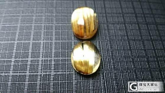 出钛晶戒面、黄虎眼(12mm)_宝石