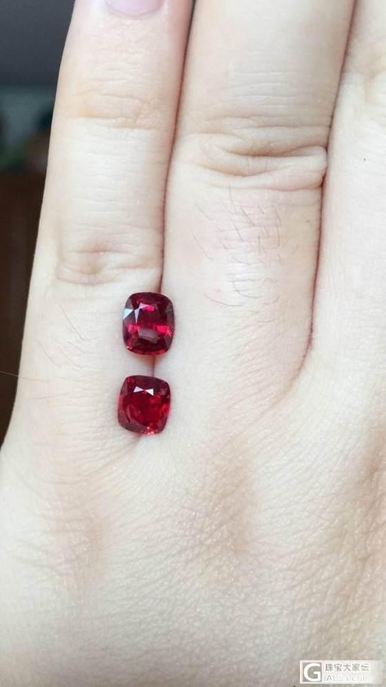 第一次买的入门级小尖晶两颗,颜色比图片的红要鲜艳_刻面宝石尖晶石