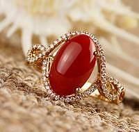 珊瑚戒指款式2_珊瑚