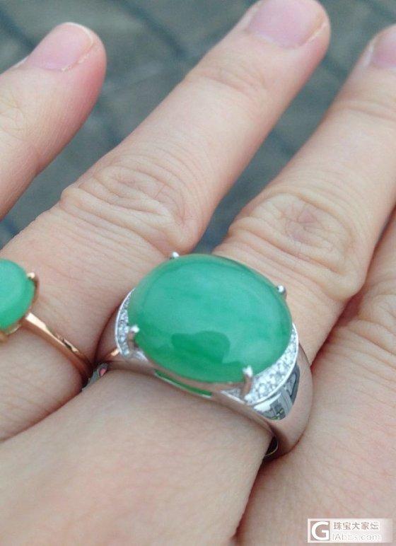 亲们,帮我估估这个戒指的价位,顺便求闪!_戒指翡翠