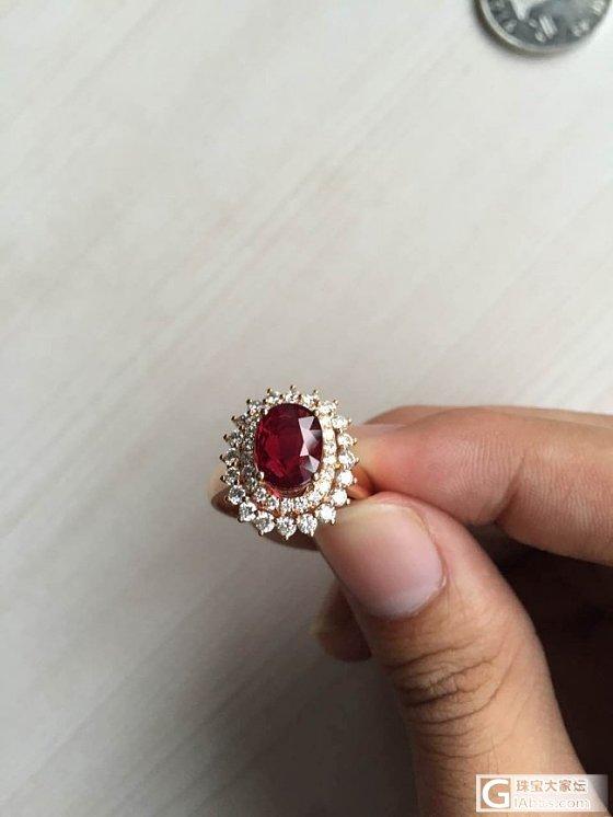 今天在展会上看到的红宝戒指,求鉴定_红宝石机构证书