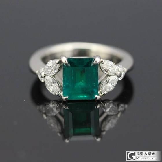 2.18哥伦比亚无油祖母绿戒指,GRS证书。_悠然亭珠宝