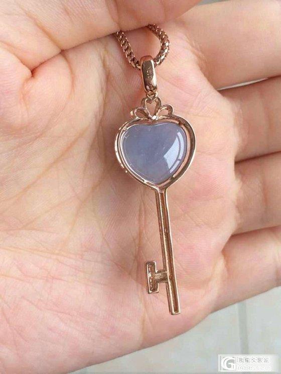 很特别的吊坠紫色控们看过来翡翠桃心钥匙_翡翠