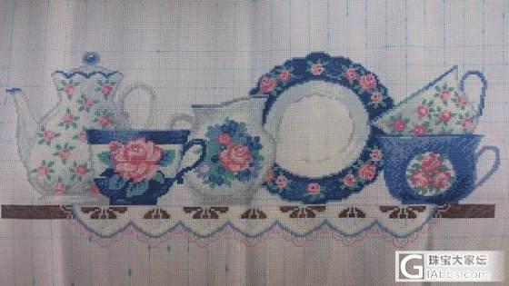 同事绣的大幅《英式下午茶时间》_十字绣