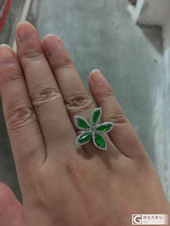 第一个戒指,上海珠宝展收获_戒指翡翠