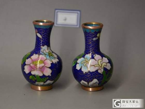 【景泰蓝赏瓶一对】创汇时期 老北京出口订单 小骆驼文玩_文玩