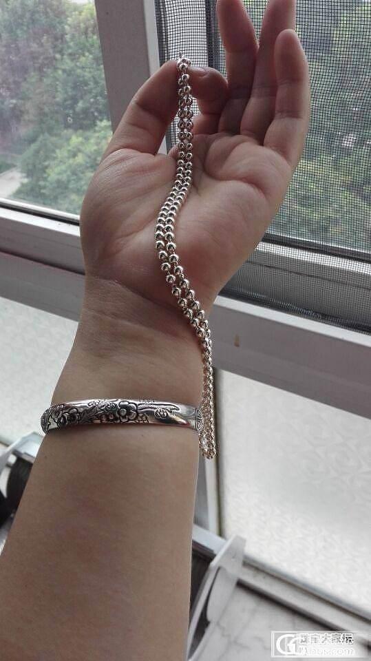 ***珍珠链、圆珠链、牡丹圆牌还图!_吊坠项链银