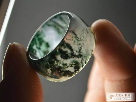水草玛瑙扳指(2) 收藏级精品 小骆驼文玩_玛瑙
