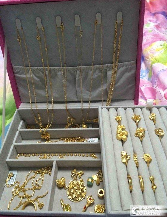 黄金首饰大集合,这次以吊坠和项链为主,手镯秀帖再单开_吊坠手镯项链戒指金