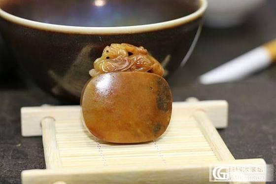 和田黄沁籽料 府上有龙_传统玉石